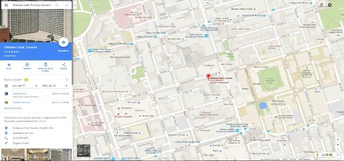 Chesea Hotel map